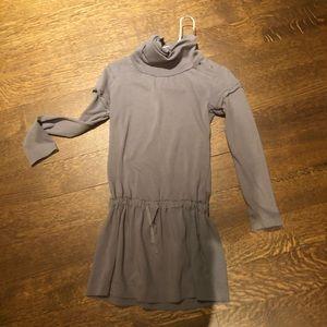 Zara Kids taupe drop-waist turtleneck dress